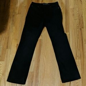 Curvy boot cut black jeans